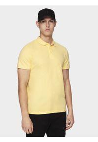Żółta koszulka polo 4f polo