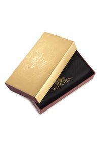 Wittchen - Męski portfel ze skóry z herbem bez zapięcia. Kolor: czarny. Materiał: skóra