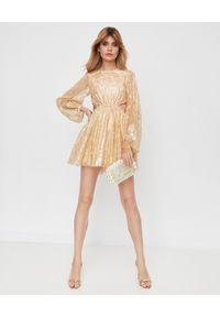 ALICE MCCALL - Sukienka mini Magic Thinking. Okazja: na wesele, na imprezę, na ślub cywilny. Kolor: złoty. Materiał: materiał, koronka. Wzór: koronka. Długość: mini