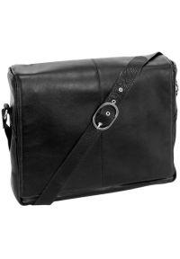 Torba na laptopa MCKLEIN San Francesco 15.6 cali Czarny. Kolor: czarny. Materiał: skóra. Styl: biznesowy, klasyczny, elegancki
