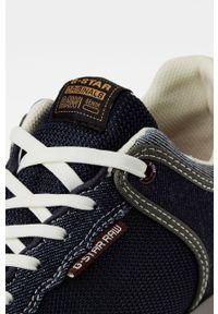 Niebieskie sneakersy G-Star RAW na sznurówki, z cholewką