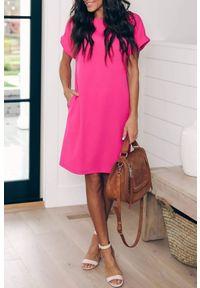 Różowa sukienka mini IVET na lato