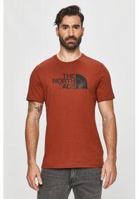 Czerwony t-shirt The North Face casualowy, na co dzień