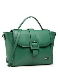 Nobo - Torebka NOBO - NBAG-K0060-C008 Zielony. Kolor: zielony. Materiał: skórzane. Rodzaj torebki: na ramię