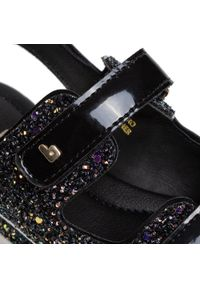 Czarne sandały Bibi z aplikacjami, na lato