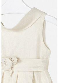 Złota sukienka Mayoral rozkloszowana, na ramiączkach, mini