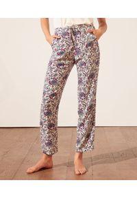 Bahri Wzorzyste Spodnie Od Piżamy - S - Fioletowy - Etam. Kolor: fioletowy. Materiał: bawełna, koronka. Wzór: kwiaty, koronka, aplikacja, nadruk