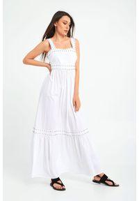 Sukienka TwinSet z kwadratowym dekoltem, na ramiączkach