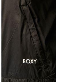 Czarna kurtka Roxy na co dzień, z kapturem