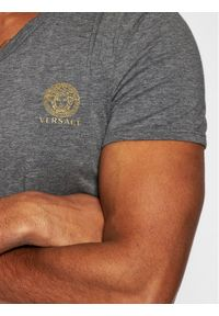 Szary t-shirt VERSACE