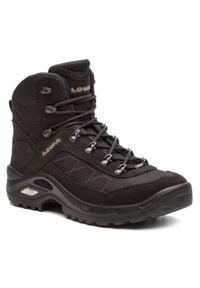 Czarne buty trekkingowe Lowa z cholewką, Gore-Tex, trekkingowe