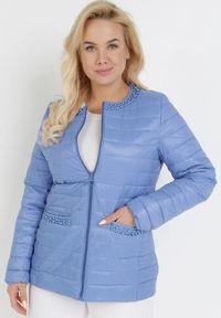 Born2be - Niebieska Kurtka Ashypise. Kolor: niebieski