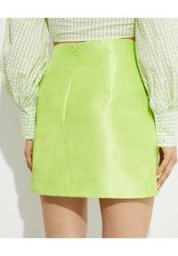 ALICE MCCALL - Zielona spódnica Dance Dance. Okazja: na co dzień. Stan: podwyższony. Kolor: zielony. Materiał: satyna. Sezon: lato. Styl: klasyczny, casual