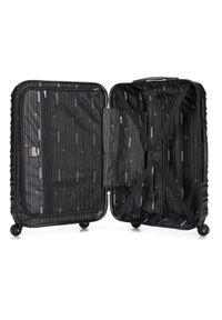 Wittchen - Zestaw walizek z ABS-u z żebrowaniem. Kolor: czarny. Materiał: guma