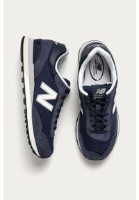 Niebieskie sneakersy New Balance na sznurówki, z okrągłym noskiem