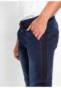 """Dżinsy dresowe Slim Fit Tapered bonprix ciemnoniebieski """"stone"""". Kolor: niebieski"""
