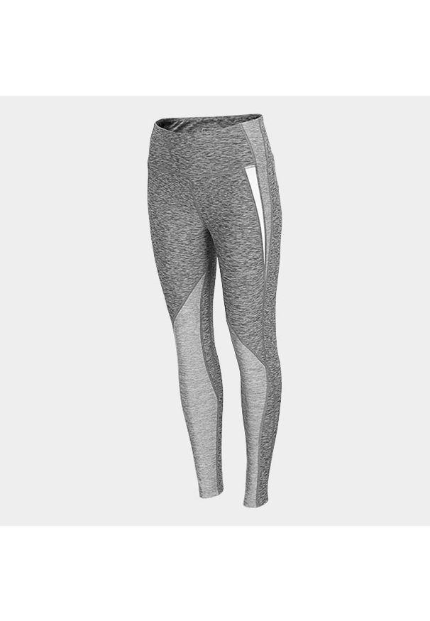 Szare spodnie do fitnessu outhorn melanż, do kostek