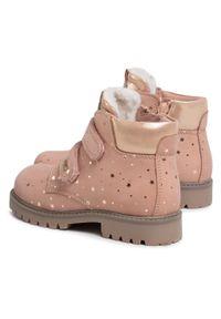 Lasocki Kids - Trapery LASOCKI KIDS - CI12-TREMP-02A Pink. Okazja: na spacer. Kolor: różowy. Materiał: skóra, nubuk. Sezon: zima