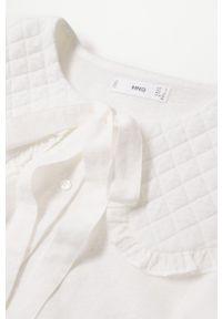 mango - Mango - Koszula Honey. Okazja: na co dzień. Kolor: biały. Materiał: włókno. Długość rękawa: długi rękaw. Długość: długie. Styl: casual
