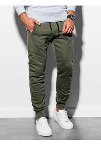 Oliwkowe spodnie Ombre Clothing