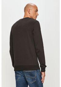 Czarna bluza nierozpinana Jack & Jones z nadrukiem, casualowa, bez kaptura