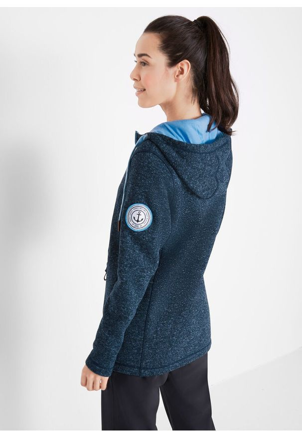 Niebieska bluza bonprix długa, z długim rękawem