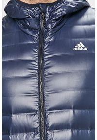 Niebieska kurtka adidas Performance z kapturem, casualowa, na co dzień
