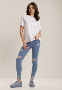 Renee - Biały T-shirt Errona. Kolor: biały