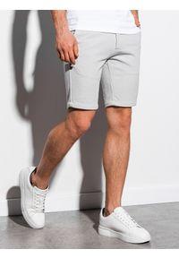 Szare szorty Ombre Clothing krótkie, eleganckie #6