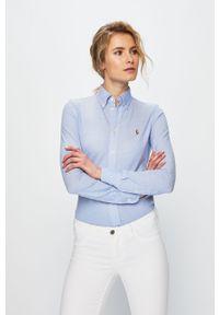 Niebieska koszula Polo Ralph Lauren długa, polo, klasyczna