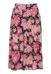 Soyaconcept Spódnica z wiskozy w kwiaty Paris Czarny w kwiaty female czarny/ze wzorem L (42). Kolor: czarny. Materiał: wiskoza. Wzór: kwiaty