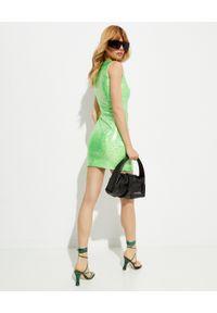 SAKS POTTS - Zielona sukienka Vision. Okazja: na imprezę. Kolor: zielony. Materiał: materiał. Wzór: aplikacja. Długość: mini
