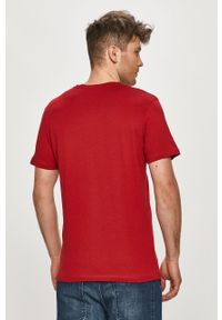 Czerwony t-shirt Premium by Jack&Jones na co dzień, casualowy