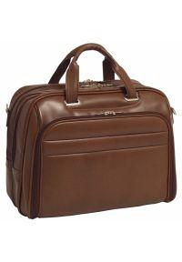 Torba na laptopa MCKLEIN Springfield 17 cali Brązowy. Kolor: brązowy. Styl: biznesowy