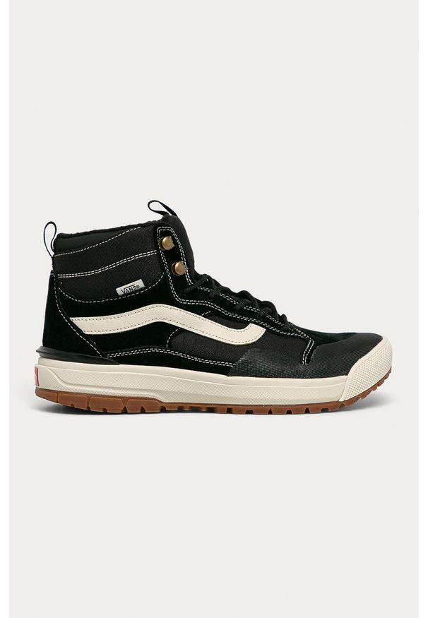 Czarne sneakersy Vans na sznurówki, z cholewką