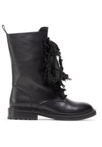 Czarne buty trekkingowe Eva Longoria z cholewką, klasyczne
