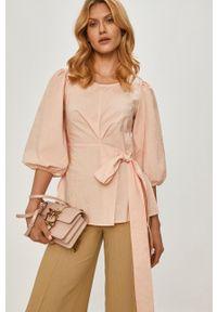 Różowa bluzka Beatrice B casualowa, na co dzień