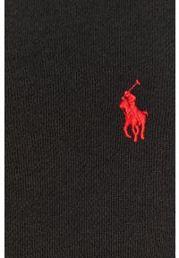 Czarna bluza rozpinana Polo Ralph Lauren z aplikacjami, casualowa, na co dzień, polo