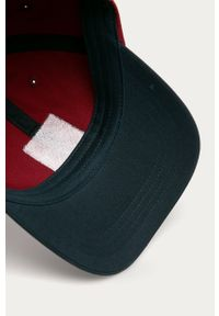Brązowa czapka z daszkiem columbia w jednolite wzory