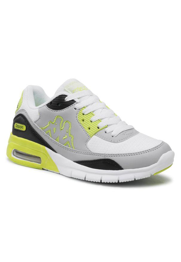 Kappa - Sneakersy KAPPA - Harlem II Tc 242175TC White/Lime 1033. Okazja: na co dzień. Kolor: szary. Materiał: skóra, materiał. Szerokość cholewki: normalna. Sezon: lato. Styl: elegancki, klasyczny, casual
