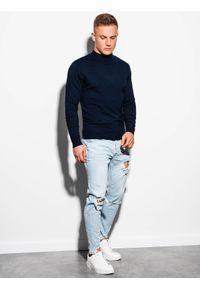Niebieski sweter Ombre Clothing z golfem