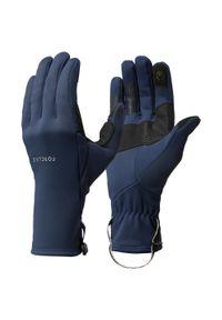 FORCLAZ - Rękawice trekkingowe dla dorosłych Forclaz Trek 500 stretch. Materiał: włókno, poliester, elastan. Sezon: jesień, wiosna