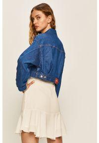 Niebieska kurtka Pepe Jeans casualowa, bez kaptura, na co dzień