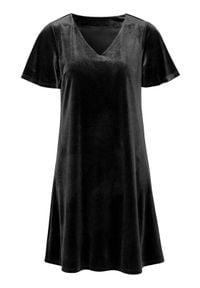 Cellbes Sukienka Czarny female czarny 34/36. Typ kołnierza: dekolt w serek. Kolor: czarny. Materiał: jersey. Długość rękawa: krótki rękaw. Styl: elegancki