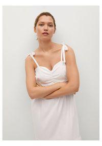 mango - Mango Sukienka letnia Ines 87049203 Biały Relaxed Fit. Kolor: biały. Sezon: lato