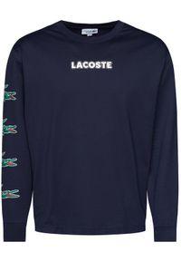 Lacoste Bluza TH1520 Granatowy Regular Fit. Kolor: niebieski