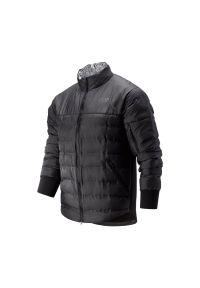 Czarna kurtka New Balance z dekoltem woda, na zimę