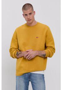Levi's® - Levi's - Bluza. Okazja: na co dzień, na spotkanie biznesowe. Kolor: żółty. Materiał: dzianina. Wzór: gładki. Styl: biznesowy, casual