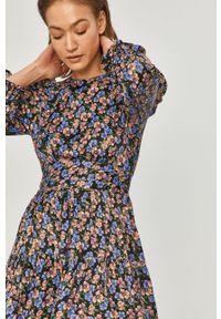 Wielokolorowa sukienka Answear Lab w kwiaty, prosta, na co dzień, mini