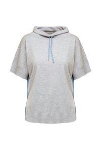 Szary sweter Deha krótki, z krótkim rękawem